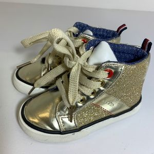 Tommy Hilfiger Gold Sneakers